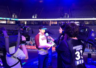 "KiKA LIVE — Jess trifft Luc Ackermann. Dreahbeiten zur ""Night of the Jumps"" in Mannheim acamnetwork_"